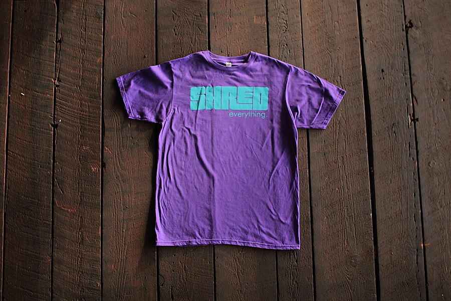 shred, snowboard, tshirt, printing, apparel